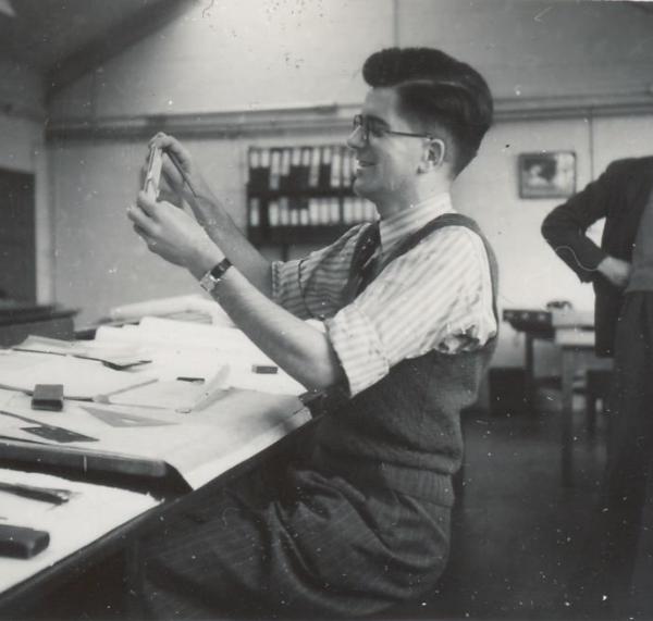 Gordon Monger in the Supermarine workshops